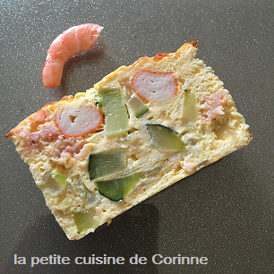 Terrine courgettes crevettes surimi