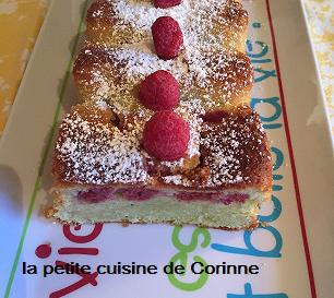 Recette Cake  inventé pistache framboises