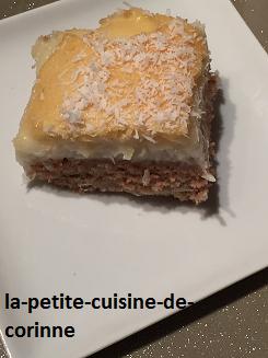 Recette Gâteau à la crème de noix de coco
