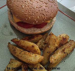 """Recette Potatoes aux arômates et Hamburger """"maison"""""""