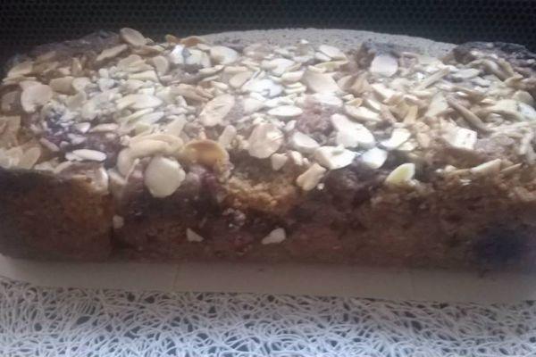 Recette Cake framboises amandes.