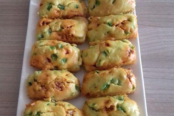 Minis cakes chorizo, poivron et safran