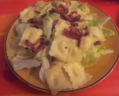 Recette Salade de raviolis