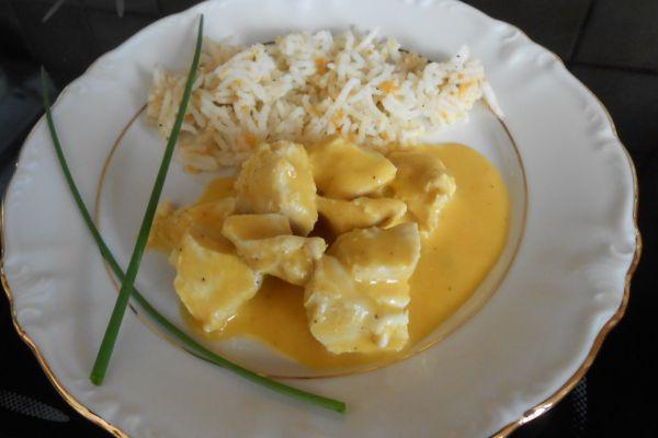 Recette Blanquette de poulet et son riz