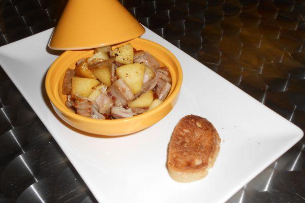 Recette Cassolette andouille et pomme