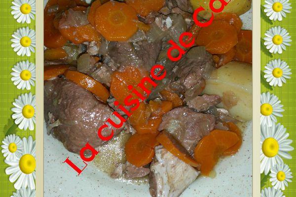 Recette Sauté de porc façon bourguignon