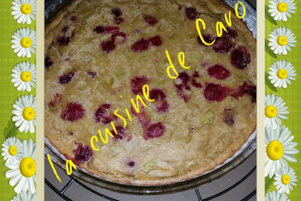 Recette Clafoutis rhubarbe-framboise