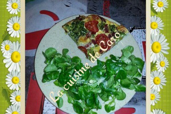 quiche brocoli-tomates (sans pâte)