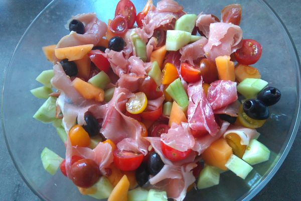 Recette Salades d'été au jambon cru