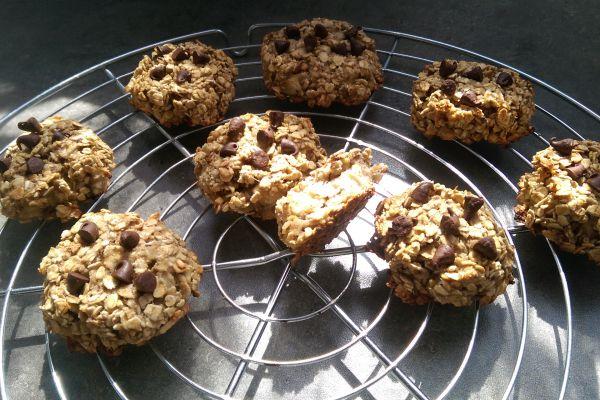 Recette Cookies aux flocon d'avoine et banane