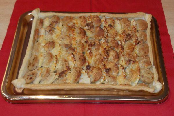 Recette Tarte aux boudins blancs et pommes