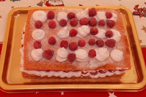 Recette Moelleux rose aux framboises