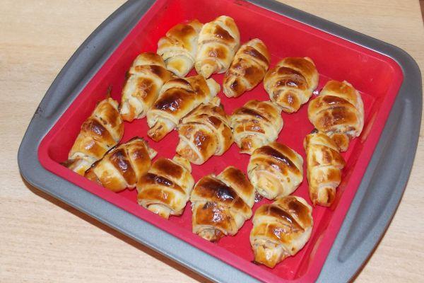 Recette Minis croissants feuilletés au saumon fumé