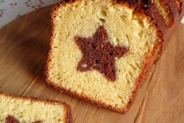 Recette cake marbré en étoile