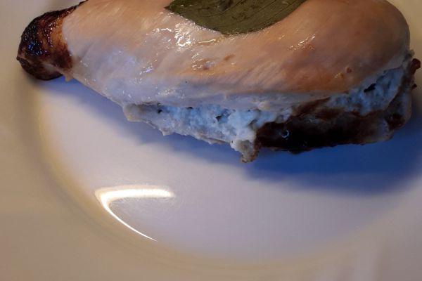 Recette Filets de poulet farcis au basilic et fromage frais 0 %