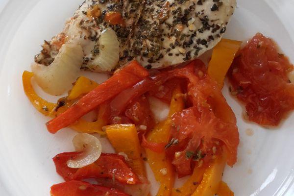Recette Filets de poulet  aux légumes du soleil