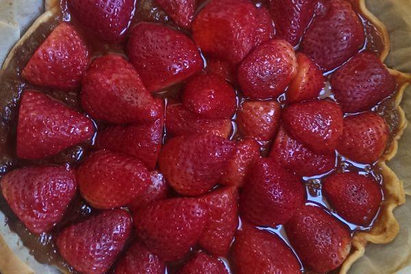Recette Tarte fraise rhubarbe
