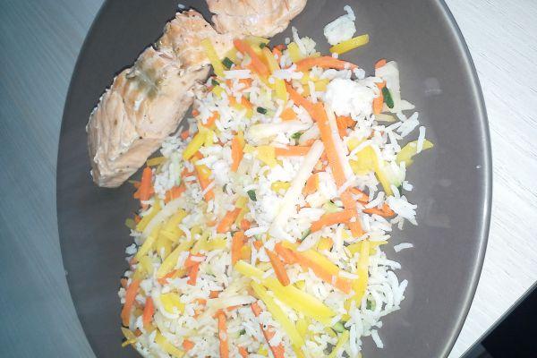Recette saumon et julienne de légume surgelé 7pp