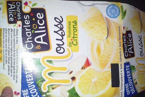 mousse de pomme citron