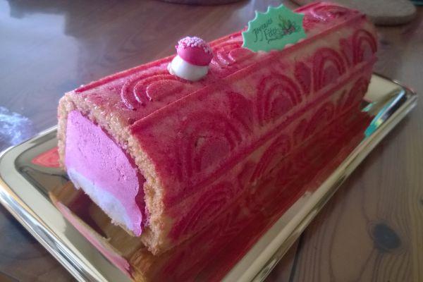 Recette bûche framboises pistache (moule cake)