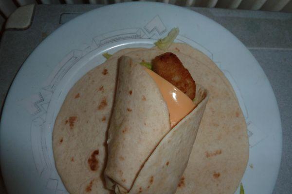 Recette Wrap de poulet