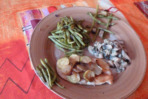 Recette Escalopes en écailles de pommes de terre et champignons