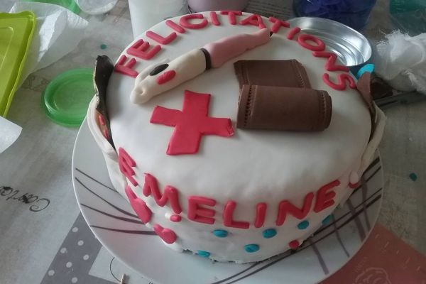 Gateau 3 chocolats infirmière