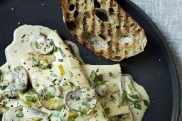 Recette Lasagnes champignons et poireaux de Gordon Ramsay