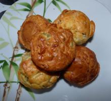 Muffins salés aux lardons et aux olives vertes