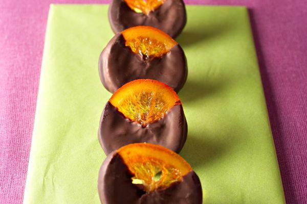 Recette Oranges confites au chocolat