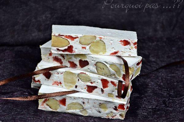 Recette Nougats de noel aux fraises ou fraises tagada