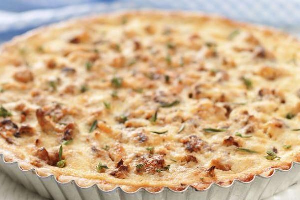 Recette Tarte au chou-fleur et jambon pas chère en 20 min