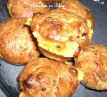 Recette Muffins au jambon, fromage et basilic