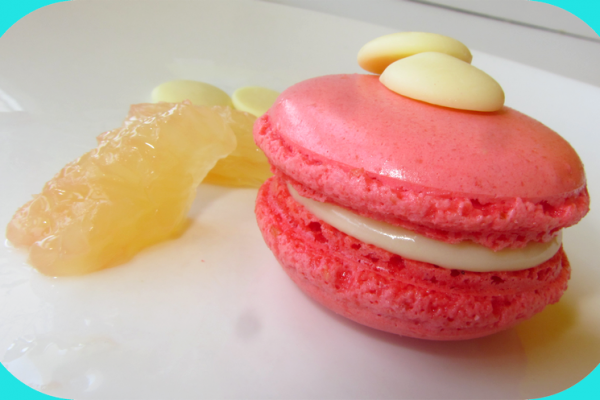 Macarons ganache chocolat blanc/pamplemousse