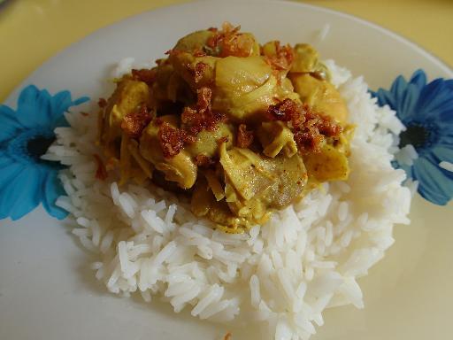 Recette Poulet au coco et curry