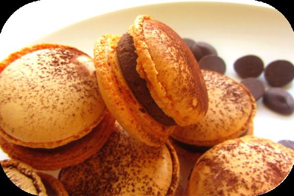 Recette Macarons ganache chocolat au lait/fruit de la passion