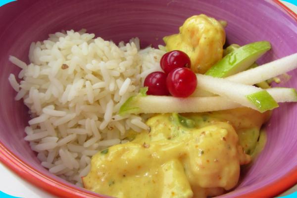 Recette Crevettes au curry et au lait de coco