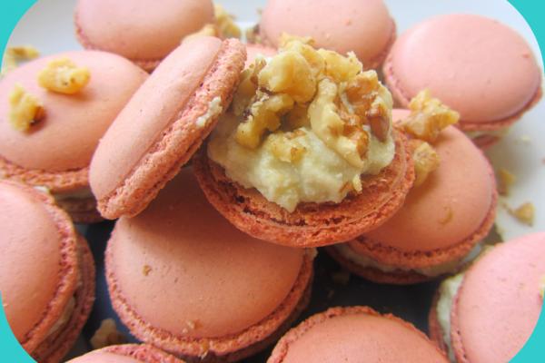 Recette Macarons salés roquefort/noix