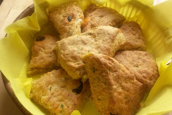 Recette scones fromage et tomate confite