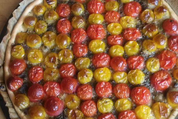 Recette tarte fine aux tomates cerises