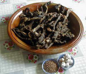 Recette Kaddid (viande séchée)