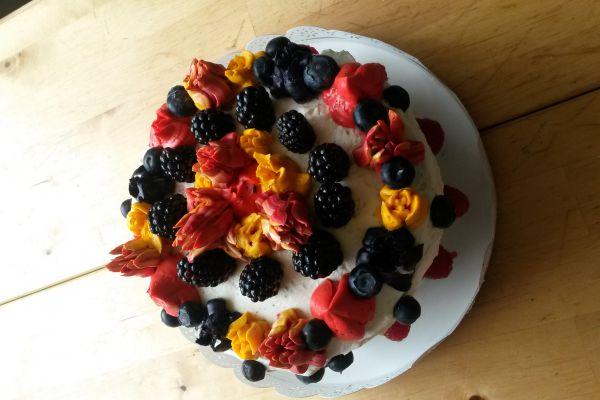 Recette Bleu velvet layer cake