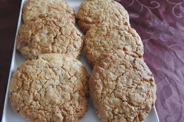 Recette cookie flocon d'avoine et poudre d'amande