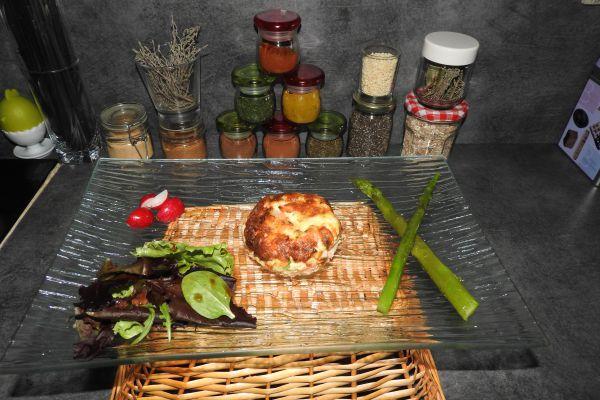 Recette flan au saumon et asperges