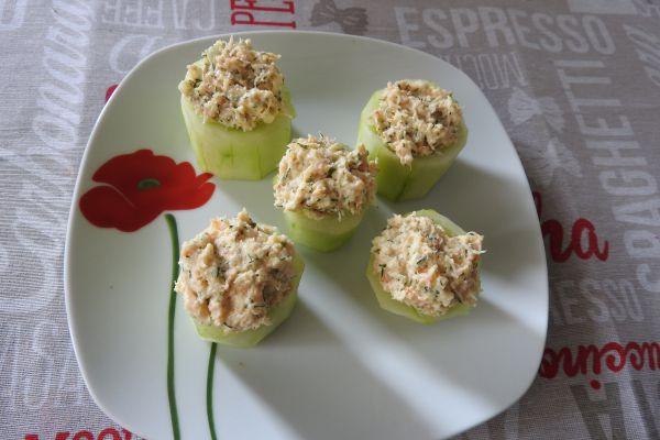 Recette sushis de concombre au crabe