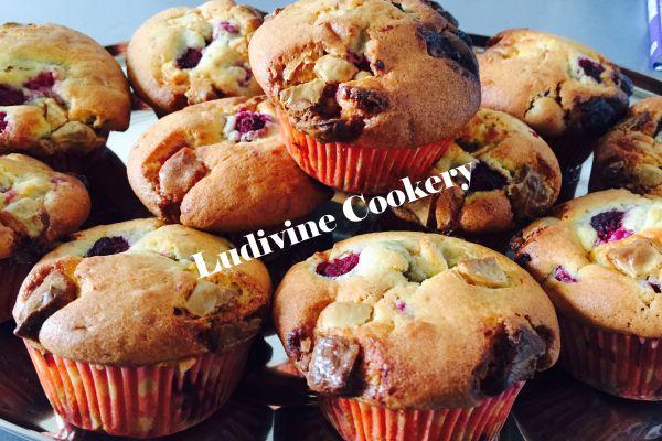 Recette Muffins au chocolat blanc et aux framboises