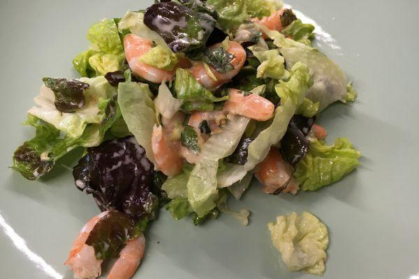 Recette Salade de crevettes/citronnelle