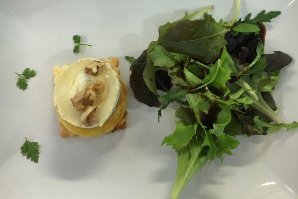 Recette Tartelette de chévre chaud