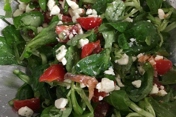 Recette Salade au saumon fumé