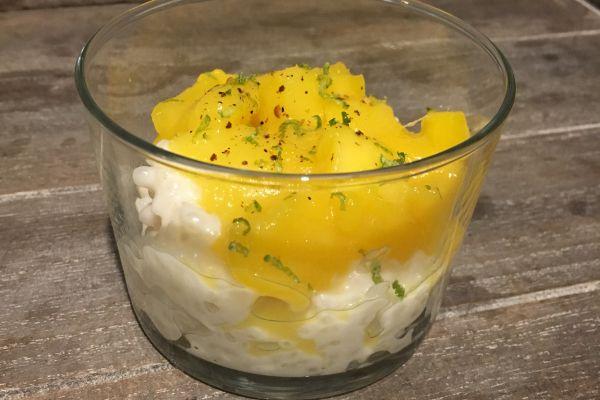 Recette Riz au lait de coco/mangues caramélisées